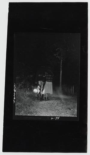Primary view of object titled '[Walking His Girl Home by Lantern Light]'.
