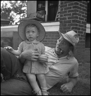 "Primary view of object titled '[Douglas Clark with ""Junebug"" Wade Hampton Clark, Jr.]'."