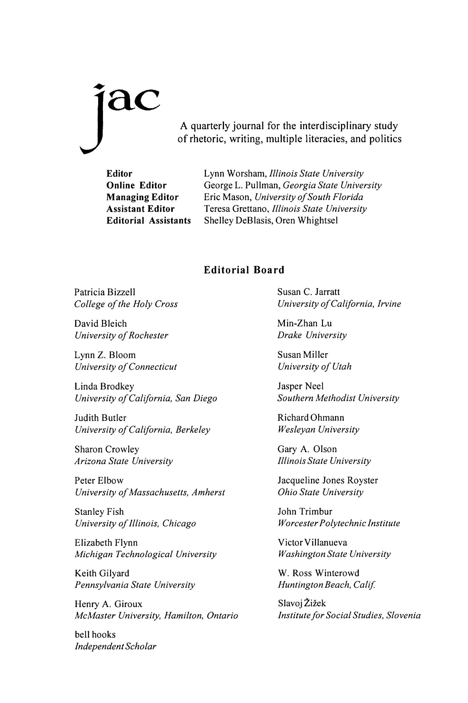 JAC: A Journal of Composition Theory, Volume 24, Number 2, 2004                                                                                                      None