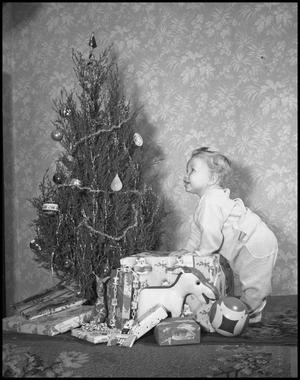 Primary view of object titled '[Douglas Clark at Christmas]'.