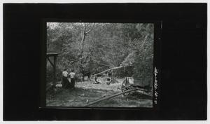Primary view of object titled '[Young Boys Man the Sorghum Press]'.