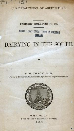 Primary view of object titled 'Dairying in the South.'.