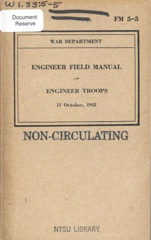 Primary view of object titled 'Engineer field manual : engineer troops.'.