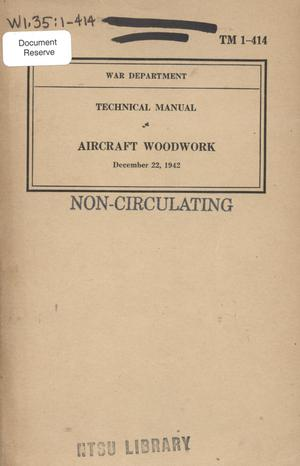 Primary view of object titled 'Aircraft woodwork.'.