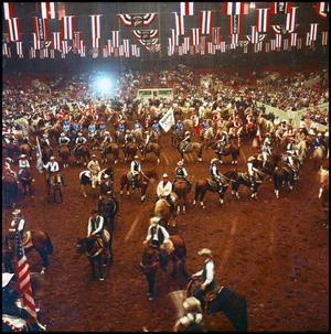 Primary view of object titled '[Riders on Arena Floor]'.