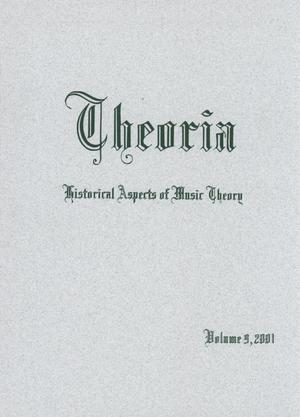 Primary view of object titled 'Theoria, Volume 9, 2001'.