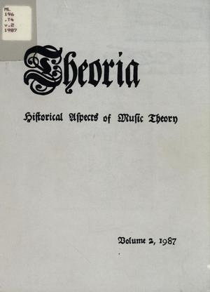 Primary view of object titled 'Theoria, Volume 2, 1987'.