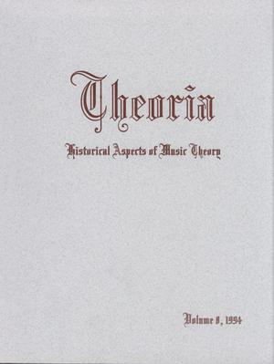 Primary view of object titled 'Theoria, Volume 8, 1994'.