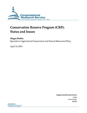 Conservation Reserve Program (CRP): Status and Issues