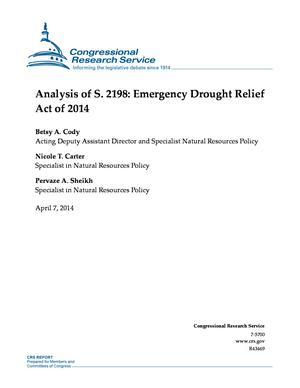 Analysis of S. 2198: Emergency Drought Relief Act of 2014