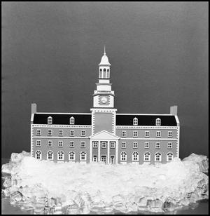Primary view of object titled '[Model of the Hurley Administration Building]'.