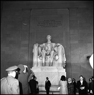 Primary view of object titled '[AFROTC at Lincoln Memorial]'.