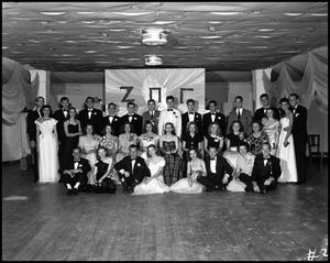 Primary view of object titled '[Students at Zeta Pi Gamma Party]'.