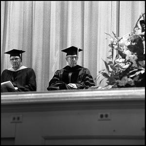 Primary view of object titled '[Ben H. Wooten at a graduation ceremony]'.
