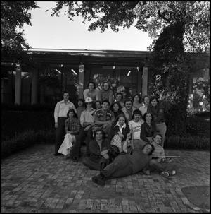 Primary view of object titled '[Alpha Phi Omega members and friends, 1974]'.