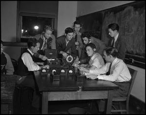 Primary view of object titled '[Students in Radio Class]'.