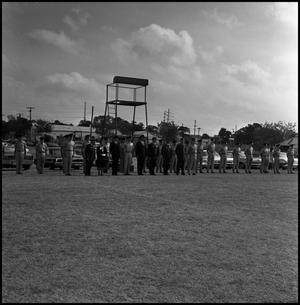 Primary view of object titled '[AFROTC review for President Matthews' birthday, October 23, 1967]'.
