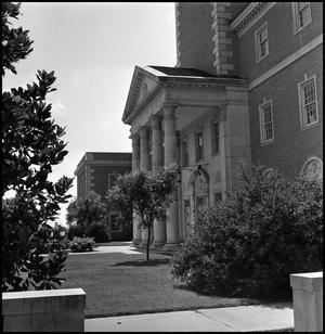 Primary view of object titled '[Administration Building front entrance]'.
