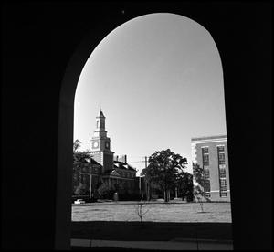 Primary view of object titled '[Administration Building seen from the Business Administration Building]'.