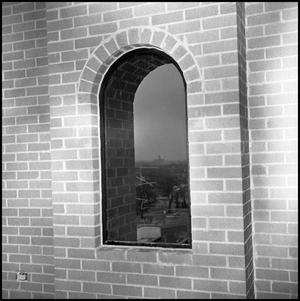 Primary view of object titled '[View from 4th floor of Willis Library]'.