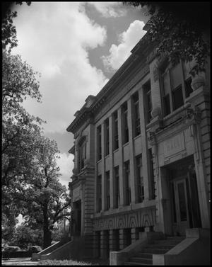 Primary view of object titled '[Photograph of Science Hall Entrances]'.