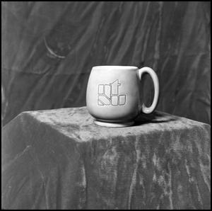 Primary view of object titled '[NTSU mug with logo]'.