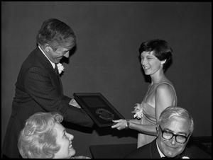 Primary view of object titled '[Woman Receiving Award]'.