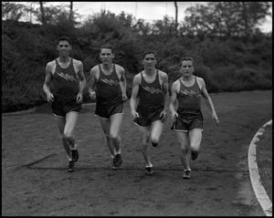 Primary view of object titled '[Four Track Team Members]'.