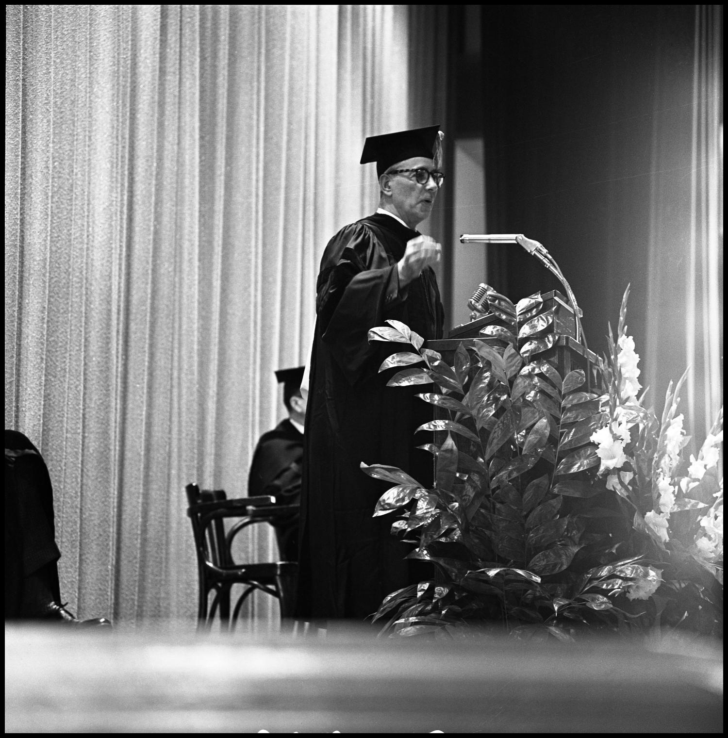 [Commencement ceremony, Auditorium Building, 1960s]                                                                                                      [Sequence #]: 1 of 1