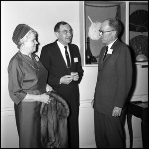 Primary view of object titled '[Unidentified event with Administration members]'.