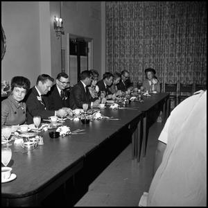 Primary view of object titled '[Ex-Student Association luncheon, Homecoming, 1965]'.
