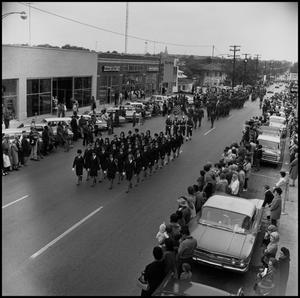 Primary view of object titled '[Homecoming Parade for AFROTC]'.