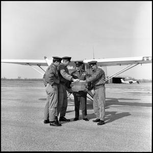 Primary view of object titled '[AFROTC members at airfield]'.