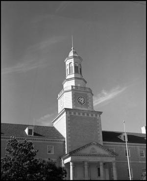 Primary view of object titled '[McConnell Memorial Tower of the Administration Building]'.