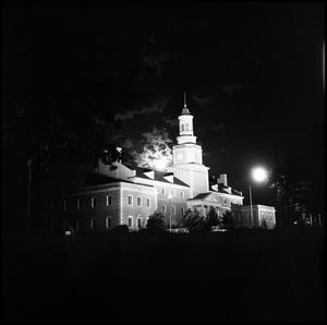 Primary view of object titled '[Administration Building at night]'.