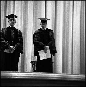 Primary view of object titled '[Commencement ceremony, Auditorium Building, 1960s]'.