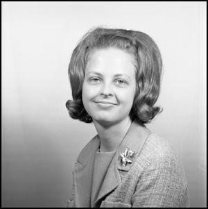 Primary view of object titled '[Gloria Adams, Assistant Dean of Women]'.