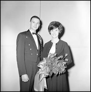 Primary view of object titled '[AFROTC member with young lady]'.
