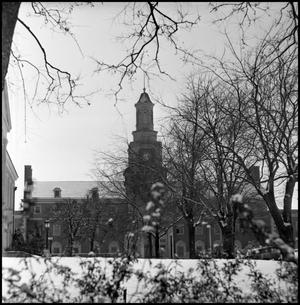 Primary view of object titled '[Snow at Administration Building]'.