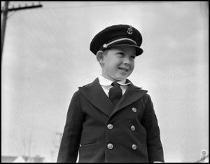 Primary view of object titled '[Little Rutledge Boy in Uniform]'.