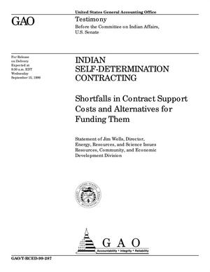 Primary view of object titled 'Indian Self-Determination Contracting: Shortfalls in Contract Support Costs and Alternatives for Funding Them'.