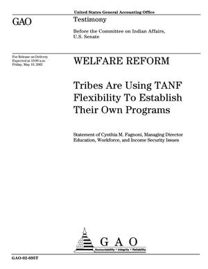 Primary view of object titled 'Welfare Reform: Tribes Are Using TANF Flexibility To Establish Their Own Programs'.