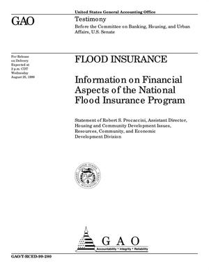 Primary view of object titled 'Flood Insurance: Information on Financial Aspects of the National Flood Insurance Program'.
