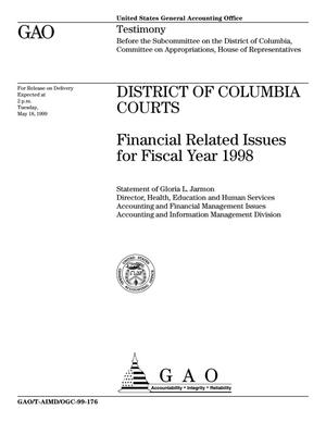 Primary view of object titled 'District of Columbia Courts: Financial Related Issues for Fiscal Year 1998'.