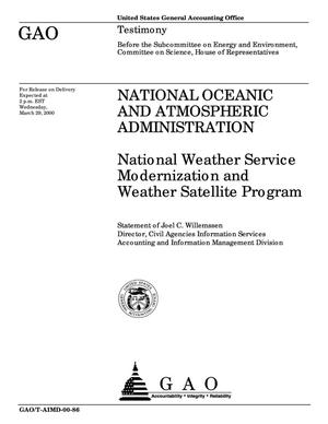Primary view of object titled 'National Oceanic and Atmospheric Administration: National Weather Service Modernization and Weather Satellite Program'.