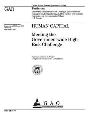 Primary view of object titled 'Human Capital: Meeting the Governmentwide High-Risk Challenge'.