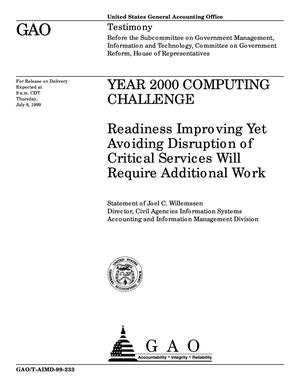 Primary view of object titled 'Year 2000 Computing Challenge: Readiness Improving Yet Avoiding Disruption of Critical Services Will Require Additional Work'.