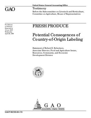 Primary view of object titled 'Fresh Produce: Potential Consequences of Country-of-Origin Labeling'.