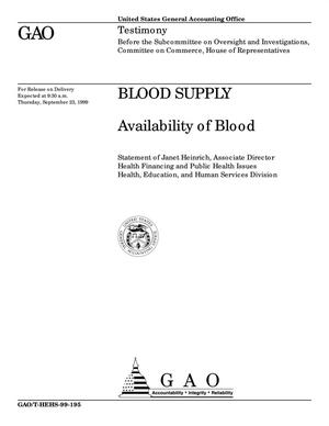 Primary view of object titled 'Blood Supply: Availability of Blood'.