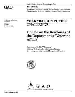 Primary view of object titled 'Year 2000 Computing Challenge: Update on the Readiness of the Department of Veterans Affairs'.